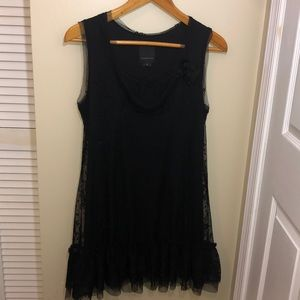 RARE Anna Sui for Anthropologie Black Lace Dress